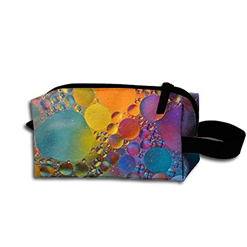 Colorful Circle Pattern Portable Printed Classic Makeup Bag Wear Resistance Toiletry Bag Pouch Makeup Cosmetic Bag - Futuristic Terms