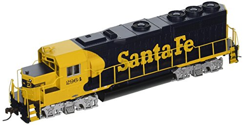 Bachmann Industries EMD GP40 DCC Santa Fe #2964 Sound Value Equipped Locomotive (HO Scale), Blue/Yellow