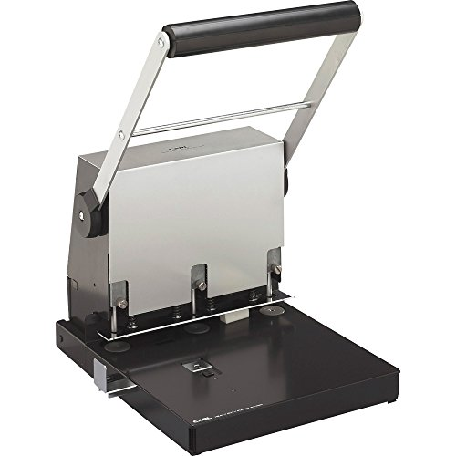 (Heavy-Duty 3-Hole Punch, 9/32 quot, 300-Sheet Capacity, Platinum)