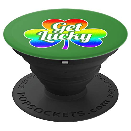 - Lucky Clover Leprechaun Rainbow St. Patrick Gift - PopSockets Grip and Stand for Phones and Tablets
