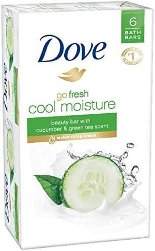Dove go fresh Beauty Bar, Cucumber and Green Tea 4 Ounce, 6 Bar