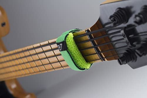 1-Pack, Gruv Gear Fretwrap Guitar or Bass String Muter Size XL Leaf Green