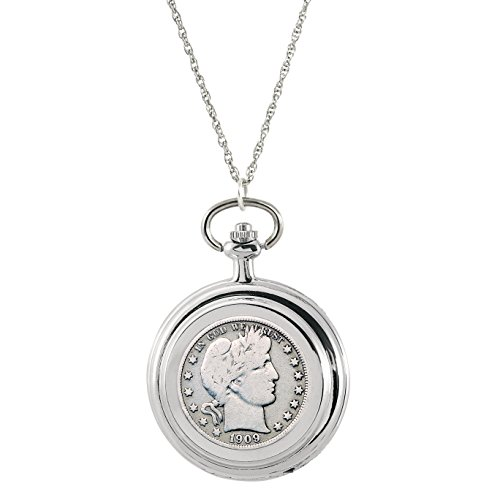 Barber Watch (American Coin Treasures Silver Barber Half Dollar Coin Pocket Watch Coin Pendant Necklace)