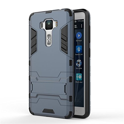 ZenFone 3 Deluxe ZS550KL Case,anzeal [Kickstand] Hybrid Dual Layer Full-Body Protective Case Soft TPU and Hard PC Rugged Dirtproof Cover For ASUS ZenFone 3 Deluxe 5.5'' ZS550KL [Deep Blue]