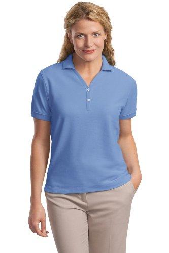 Port Authority Ladies 100% Pima Cotton Polo Shirt, 3XL, Blueberry