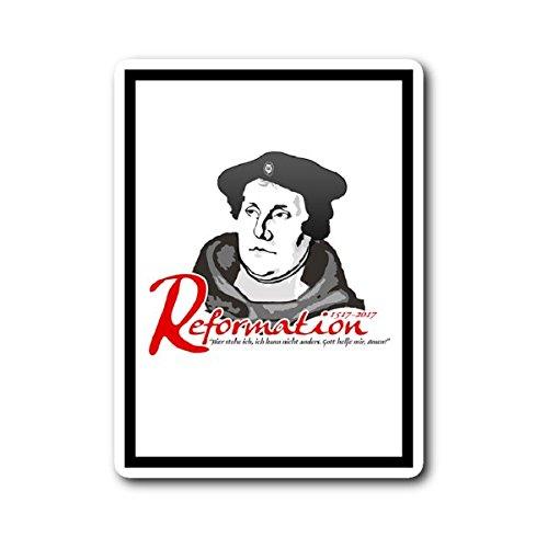500th Anniversary Reformation Martin Luther Portrait Quote Sticker 3
