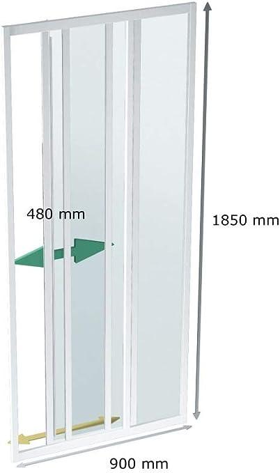 Cabina de ducha 90 cm, puerta corredera, 90 x 185 cm (BxH), Puerta ...