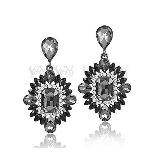 Acrylic Crystal Earrings For Women Vintage Earrings Classic Pendientes ()