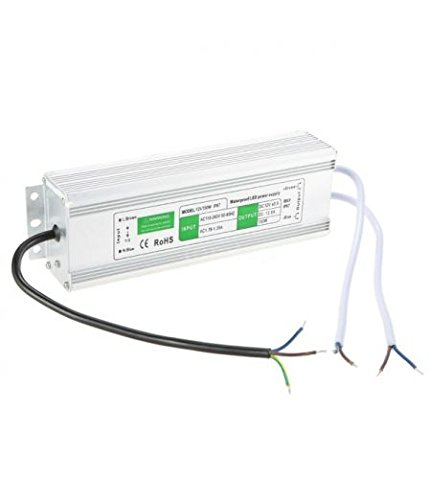 Culver LED- AC 100-240V to DC 12V 12.5A 150 Watts Waterproof LED Power Supply Driver Transformer, Aluminum Alloy Case, Waterproof Level IP67 150W by Culver LED