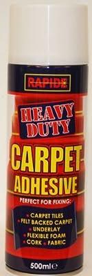 500ml Heavy Duty Spray Carpet Adhesive Glue Underlay Carpet tiles by Rapide