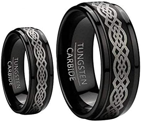 Tungsten Ring Set BlackCelt1-3 product image 5