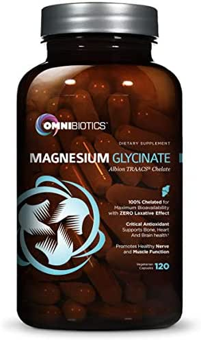 Magnesium Glycinate - 100% Pure Albion TRAACS Bisglycinate Chelate Supplement - 200 mg - 120 Vegetarian Capsules