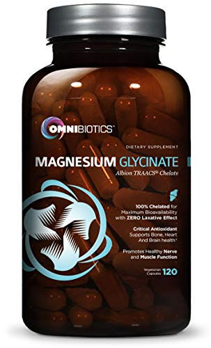 Magnesium Glycinate - 100% Pure Albion TRAACS Bisglycinate Chelate Supplement - 200 mg - 120 Vegetarian Capsules (Best Rate Referrals Reviews)