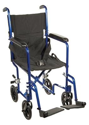 "Drive Medical Aluminum Transport Chair, 19"""