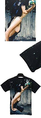 Yonbii Herren T-Shirt Mehrfarbig Mehrfarbig, Mehrfarbig, XXL (Asientisch Größe)