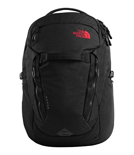 The North Face Surge, TNF Black Heather/TNF Red, OS