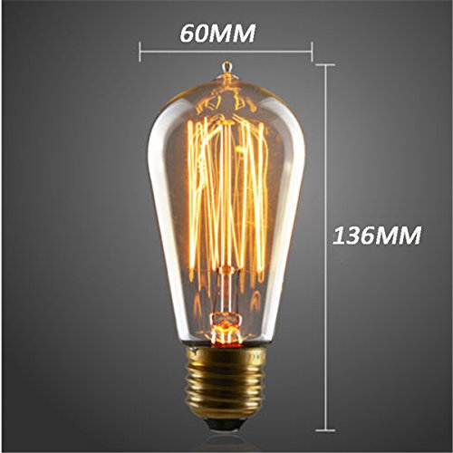Lights & Lighting - St58 E27 40w Filament Light Bulb Vintage Retro Edison Lamp 110v-120v - E27 Edison Bulb 40w 220v 60w 30 Watt Mega 110v Vintage Light Bulbs Style Dimmable - 1PCs