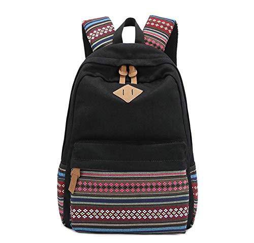 Vhvcx Travel Borduren Etnische National Unisex Tribal Multifunctionele Tiener G Canvas Vrouwelijke Leisure Journal Backpack qfrwdFq