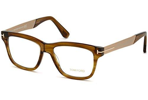 TOM FORD Eyeglasses FT5372 048 Shiny Dark Brown