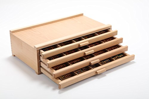 Vencer 4 Drawer Wood Art Storage Box for Pencil, Pen, Pastel, Marker Set VAO-002