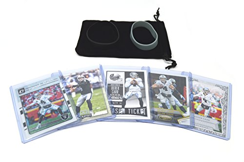 Derek Carr Football Cards Assorted (5) Bundle - Oakland Raiders Trading Cards