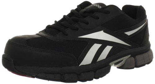 Reebok para hombre de trabajo ketia rb4895EH Athletic zapatos de seguridad, Negro/Plateado, 9 D(M) US