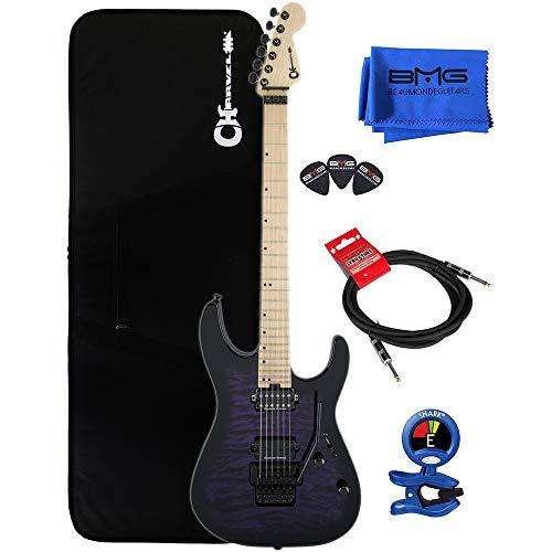 (Charvel Pro Mod DK24 HH FR M QM Trans Purple Burst Electric Guitar)