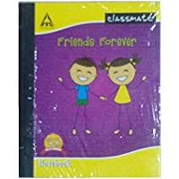 Classmate Hard Cover Note Book (19.9 X 15.5 cm , 172 Pages, 6 no, 2 Line)