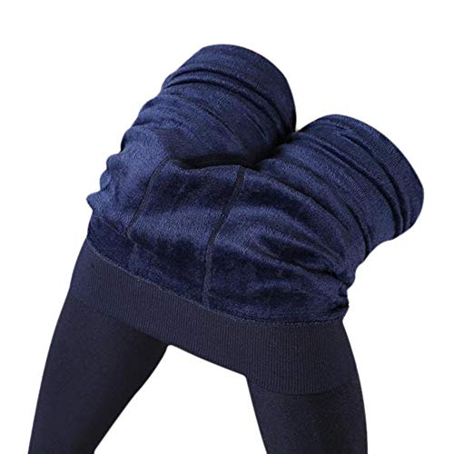 POQOQ Leggings Women Winter Thick Warm Fleece Lined Thermal Stretchy Pants Waist:20~33
