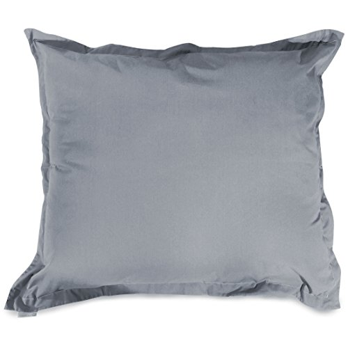 Majestic Home Goods Solid Floor Pillow, Gray by Majestic Home Goods
