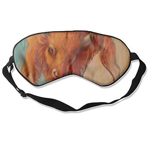 (Sleep Mask Wild Bison Eye Cover Blackout Eye Masks,Soothing Puffy Eyes,Dark Circles,Stress,Breathable Blindfold)