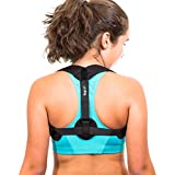 Back Posture Corrector for Women & Men by KapUp - Adjustable Back Straightener & Trainer Support Brace - Relieves Neck & Upper Back Pain by Lifting Your Shoulders to an Upright Posture