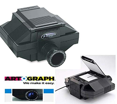 Artograph Art Projector Set Opaque Prism Series - 500-Watt Photo Quality Projector w/ 7 x 7 Inch Top Loading Copy Area & Super 230 mm f/4.5 Lens