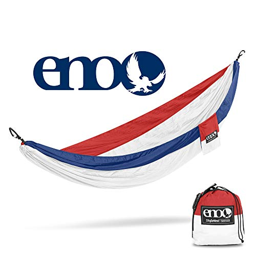 ENO - Eagles Nest Outfitters SingleNest Hammock, Portable Hammock for One, Patriot