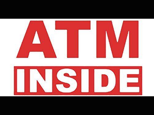 (bn1845 ATM Inside Cash Bank Banner Sign New (Pattern 1))