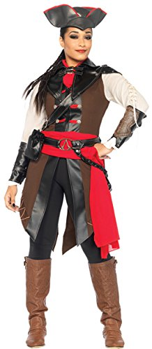 UHC Women's Assassins Creed Aveline Outfit Movie Theme Halloween Fancy Costume, S (4-6)