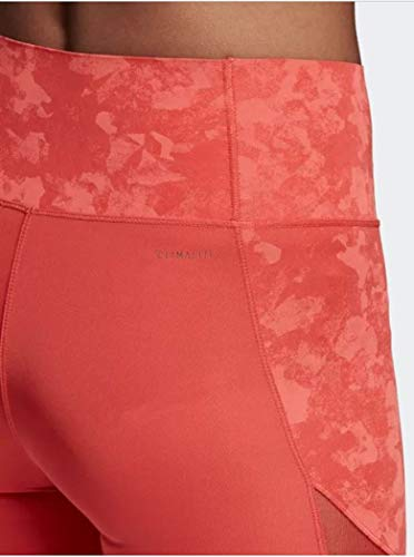 adidas Women's Climalite Ultimate High Rise Printed Long Tights, Trace Scarlet/Print,X-Small by adidas (Image #8)