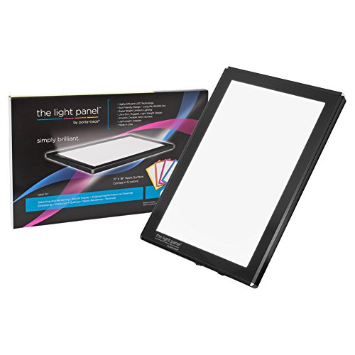 Porta-Trace LED Light Panel, Black Frame, 11-by-18-Inch by Porta-Trace