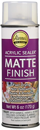 - Aleene's Spray Matte Finish 6oz Acrylic Sealer, Original Version