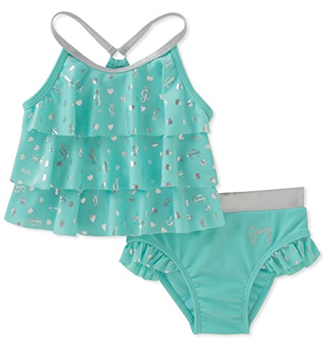 - Juicy Couture Baby Girls 2 Pieces Swimsuit, Green, 18M