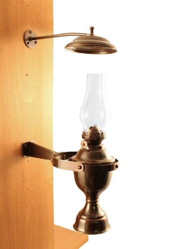 Vermont Lanterns Brass Nautical Gimbal Yacht Lamp with Smoke Bell 12'' (Antique Brass) by Vermont Lanterns