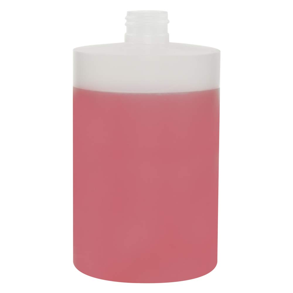 500 mL Midi Natural High Density Plastic Tubular Bottle with 24 mm X 410 Thread Count (48 Bottles) (Cap Sold Separately)