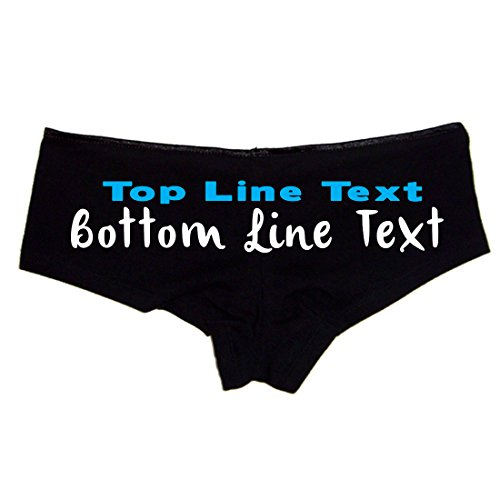(Create Your Own 2 Line Text Custom Booty Shorts Black)