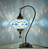 Table Lamp,Swan neck,Lamp Shade,Arabian Mosaic