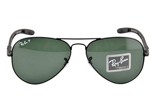 57dd03329e Ray-Ban Men's RB8307-002/N5 Aviator Carbon Fibre Oval Sunglasses, Black