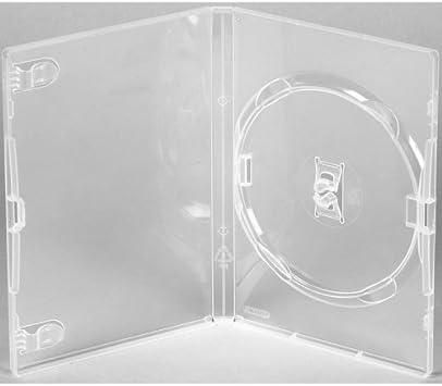 AGI Amaray Estuche transparente original para DVD, lomo de 14 mm, paquete de 25: Amazon.es: Electrónica