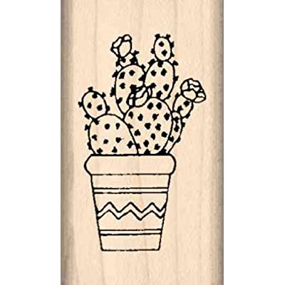 Stamps by Impression Prickly Pear Cactus Rubber Stamp: Arts, Crafts & Sewing