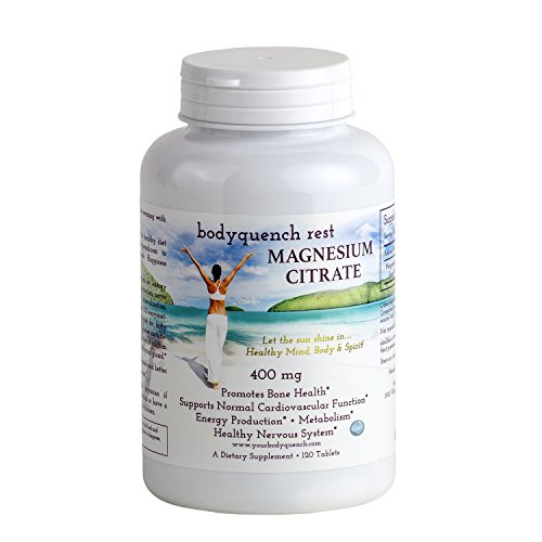 Magnesium Citrate - High Potency 400 mg per Serving – High Absorption, 120 Tablets - Magnesium Citrate 120 Tabs