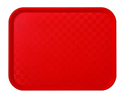 Juego de 12 bandejas Fast Food rojo (polipropileno, alimentos