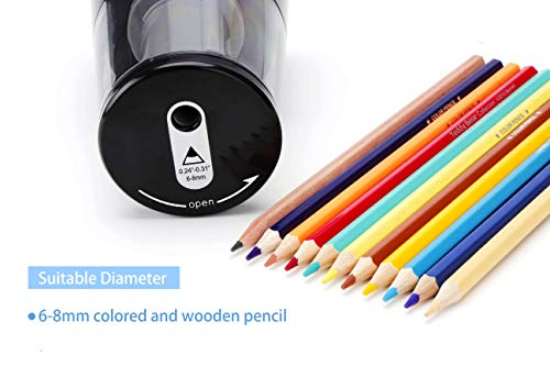 IKONG Electric Pencil Sharpener Heavy-Duty, Auto-Stop Battery Operated Pencil Sharpener for No.2 and Colored Pencils (6-8mm), Colored Electric Pencil Sharpener for Kids, School and Teacher Supplies